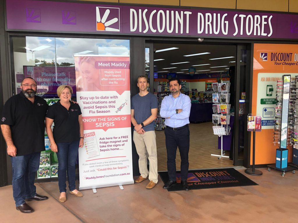 Pharmacist Matthew Low & Dr. Peyman Mira with Damian & Bobbie Jones